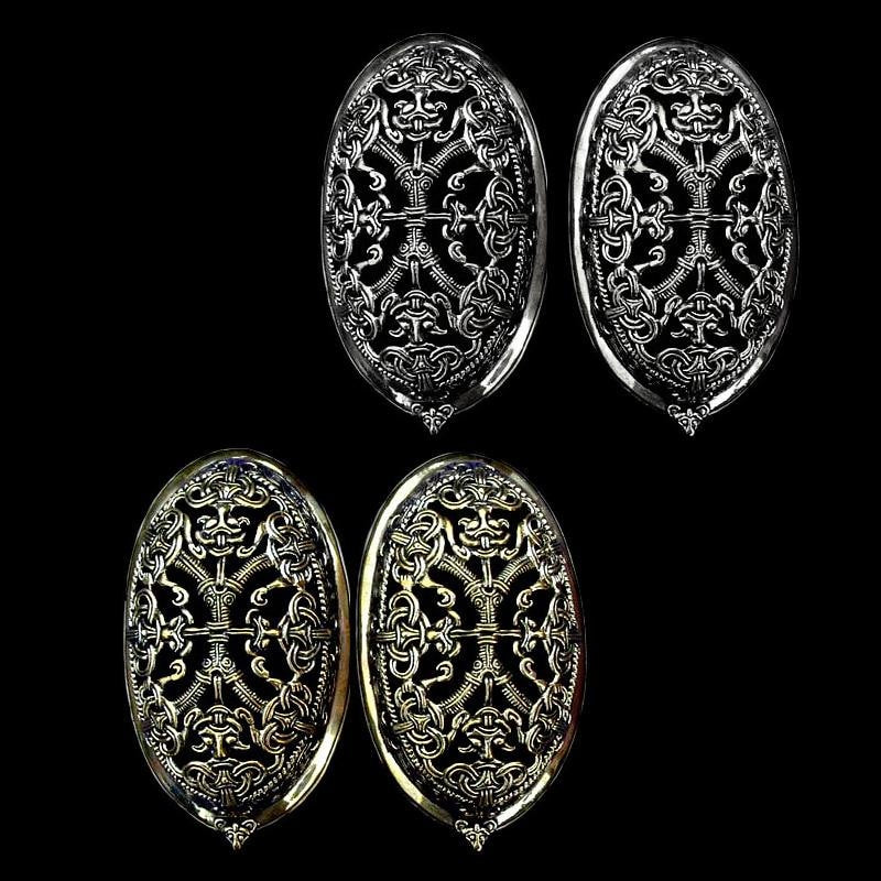 Large Ornate Tortoise Brooches - Viking Brooches