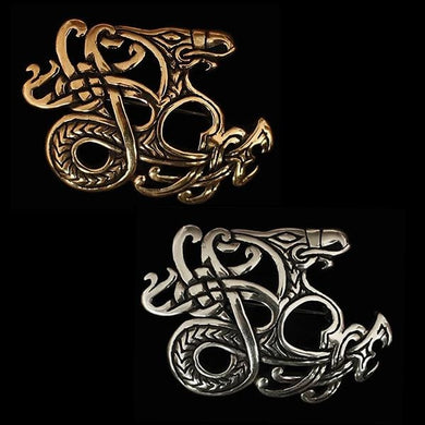 Viking Ringerike Dragon Brooch - Viking Brooches