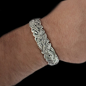 Wearing our Silver Viking Raven Arm Ring - Viking Jewelry