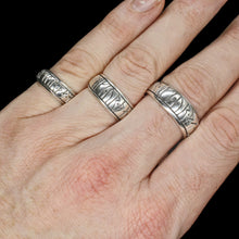 Load image into Gallery viewer, Silver Viking Strength Rune Rings on Hand