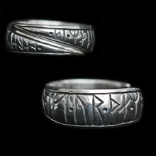 Load image into Gallery viewer, Silver Viking Strength Rune Rings