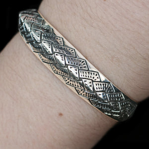 Silver Viking Axe Arm Ring on Arm