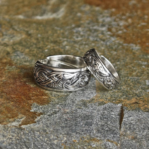 Silver Viking Dragon Ring in 2 Sizes - Viking Rings
