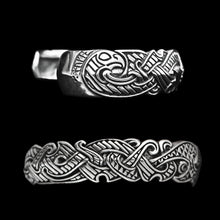 Load image into Gallery viewer, Silver Viking Raven Arm Ring - Viking Jewelry
