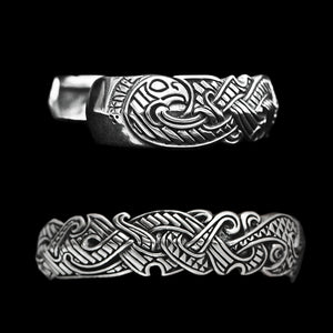 Silver Viking Raven Arm Ring - Viking Jewelry