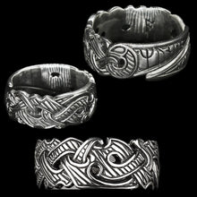 Load image into Gallery viewer, Silver Viking Raven Rings - Hugin & Munin