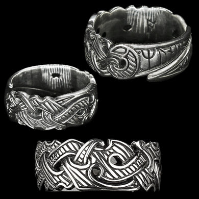 Silver Viking Raven Rings - Hugin & Munin