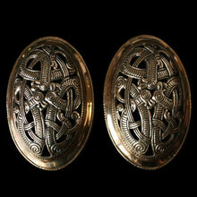 Load image into Gallery viewer, Openwork Jelling Tortoise Brooches - Bronze - Viking Brooches