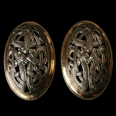 Openwork Jelling Tortoise Brooches - Bronze - Viking Brooches