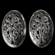 Load image into Gallery viewer, Openwork Jelling Tortoise Brooches - Silver - Viking Brooches