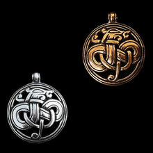Load image into Gallery viewer, Round Urnes Dragon Pendant - Viking Pendants