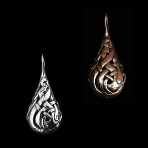 Urnes Lovers Teardrop Pendant - Viking Pendants