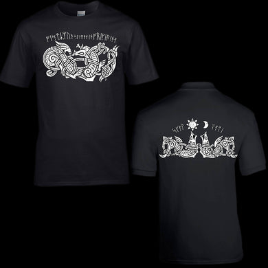 Viking Ragnarok Fenrir Wolf T-Shirt - Modern Viking Clothing