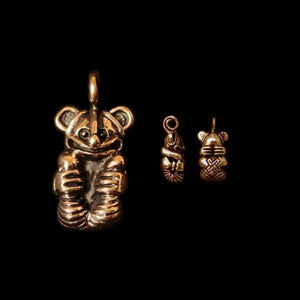 Gripping Bear Pendant - Bronze - Viking Pendants