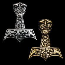 Load image into Gallery viewer, Large And Ferocious Thors Hammers- Viking Jewelry