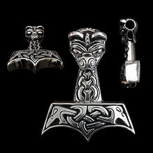 Load image into Gallery viewer, Large And Ferocious Thors Hammer - Silver - Thors Hammers
