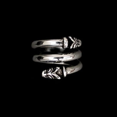 Silver Spiral Wolf Ring - Viking Rings