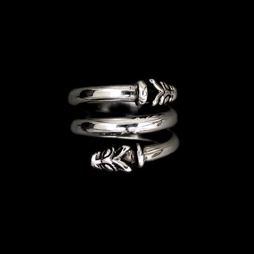 Silver Spiral Wolf Ring - Viking Rings - Viking Jewelry