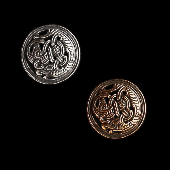 Gripping Beast Disc Brooch - Viking Brooches