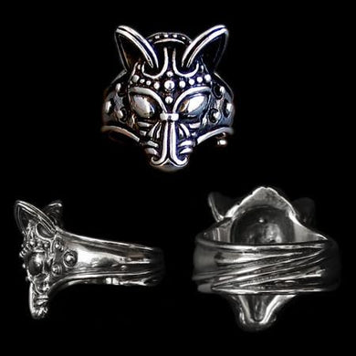 Silver Viking Wolf Head Ring - Viking Rings