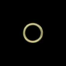 Load image into Gallery viewer, 25mm Plain Brass O Ring for Reenactment Belts