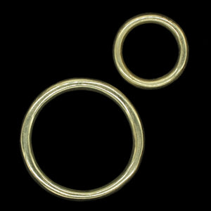 Plain Brass O Ring for Reenactment Belts / Axe Hangers
