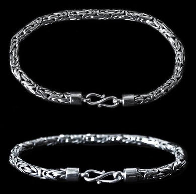 5Mm Silver Viking King Bracelet - Viking Bracelets