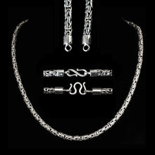 Load image into Gallery viewer, 5mm Silver King Chain Necklace With Simple Loop Heads - Viking Jewelry