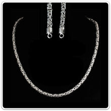 Load image into Gallery viewer, 5mm Silver King Chain Necklace With Simple Loop Heads - Viking Necklaces