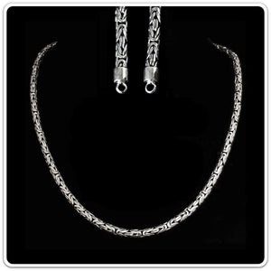 5mm Silver King Chain Necklace With Simple Loop Heads - Viking Necklaces
