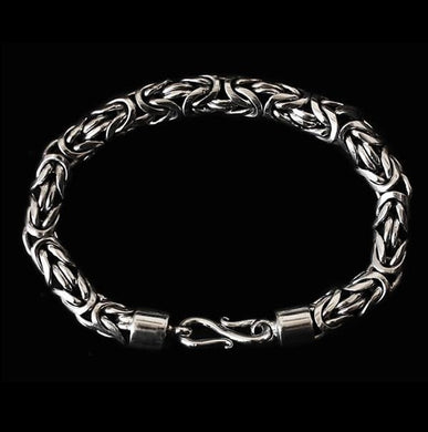 8Mm Silver Viking King Bracelet - Viking Bracelets