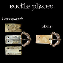 Load image into Gallery viewer, Buckle Plates for 1 inch Wide Viking Belts - Viking Clothing