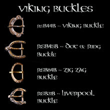 Load image into Gallery viewer, Bronze Viking Buckle Options for 1 inch Viking Belts - Viking Clothing