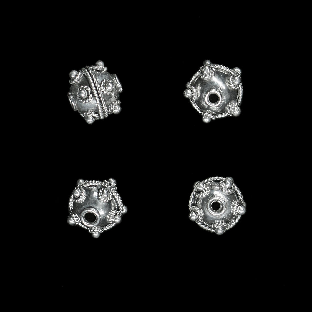 Silver Viking Beads from Visby - Small Knobbly