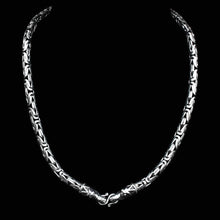 Load image into Gallery viewer, 8mm Silver King Chain with Gotlandic Dragon Heads & S-Clasp - Viking Necklaces