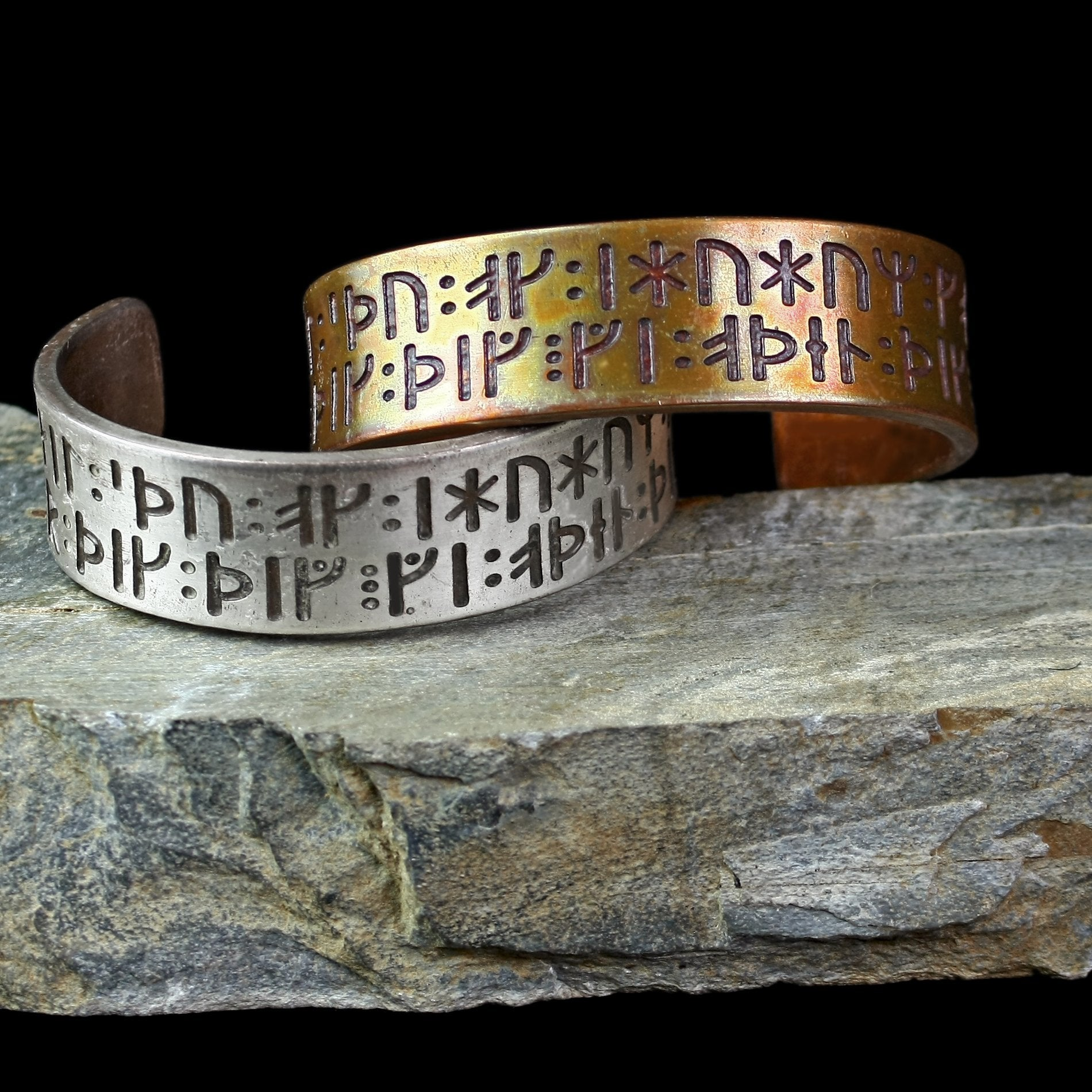 Runic Viking Prayer to Odin & Thor Arm Ring