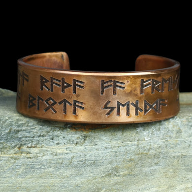 Runic Viking Havamal Copper Arm Ring - Viking Jewelry