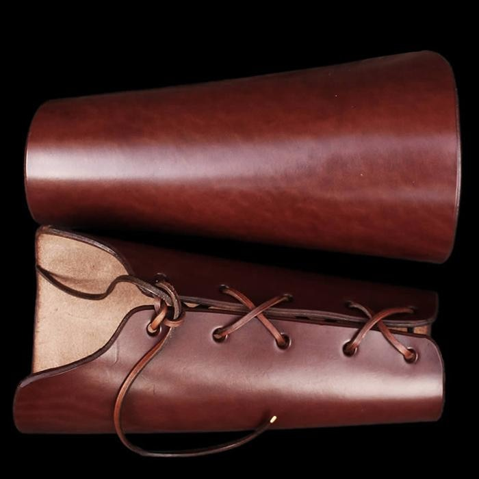 Thick Leather Armguards / Bracers - Gauntlets & Armguards