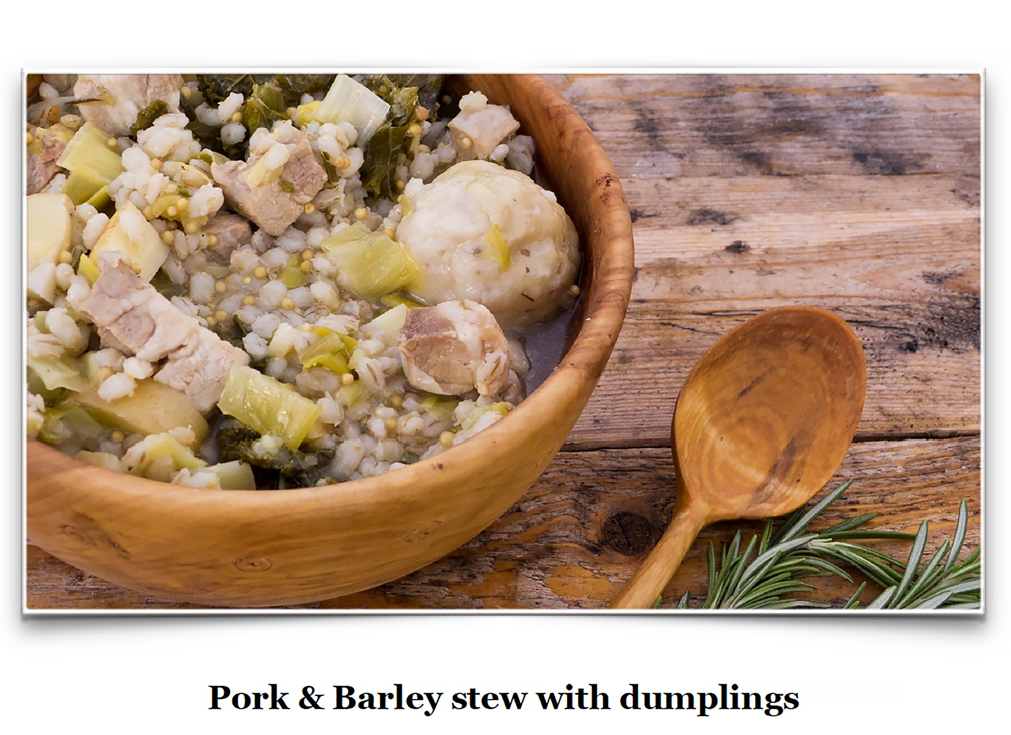 Eat Like a Viking Book - Pork & Barley Stew with Dumplings