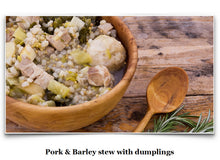 Load image into Gallery viewer, Eat Like a Viking Book - Pork & Barley Stew with Dumplings