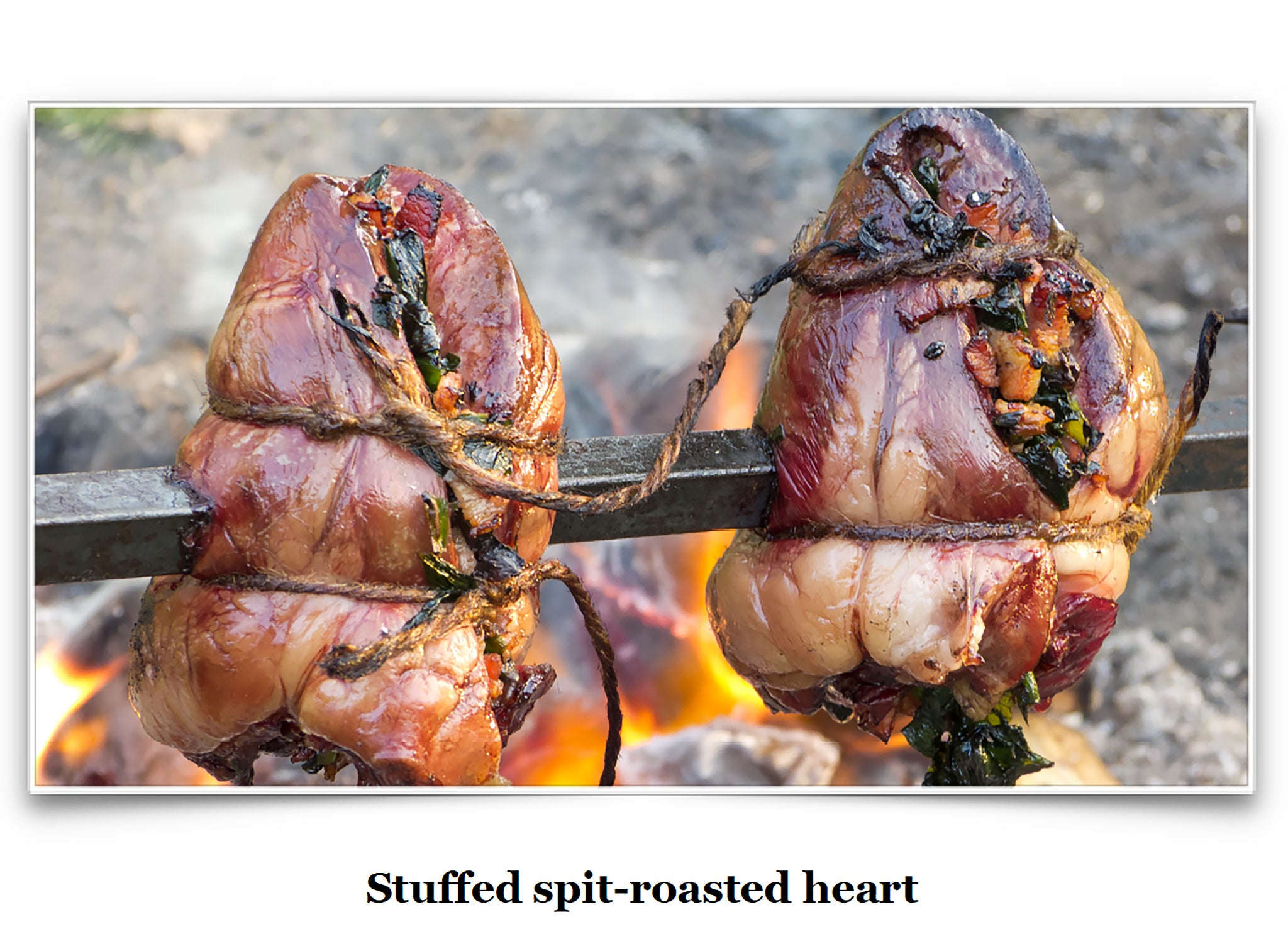 Eat Like a Viking Book - Stuffed Spit-Roasted Hearts
