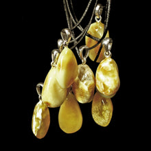 Load image into Gallery viewer, Yellow Amber Amulet Pendants - Amber Viking Jewelry
