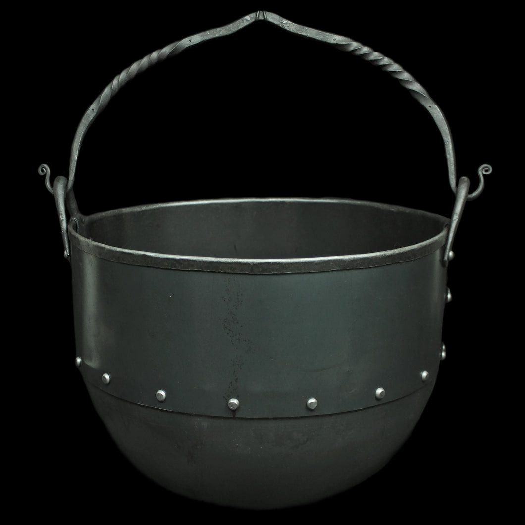 7 Litre Steel Cauldron with Twisted Iron Handle