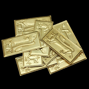 Brass Dragon Belt Plaques x 10 - Belts & Fittings