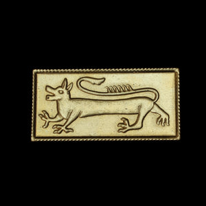 Brass Dragon Belt Plaque - Belts & Fittings