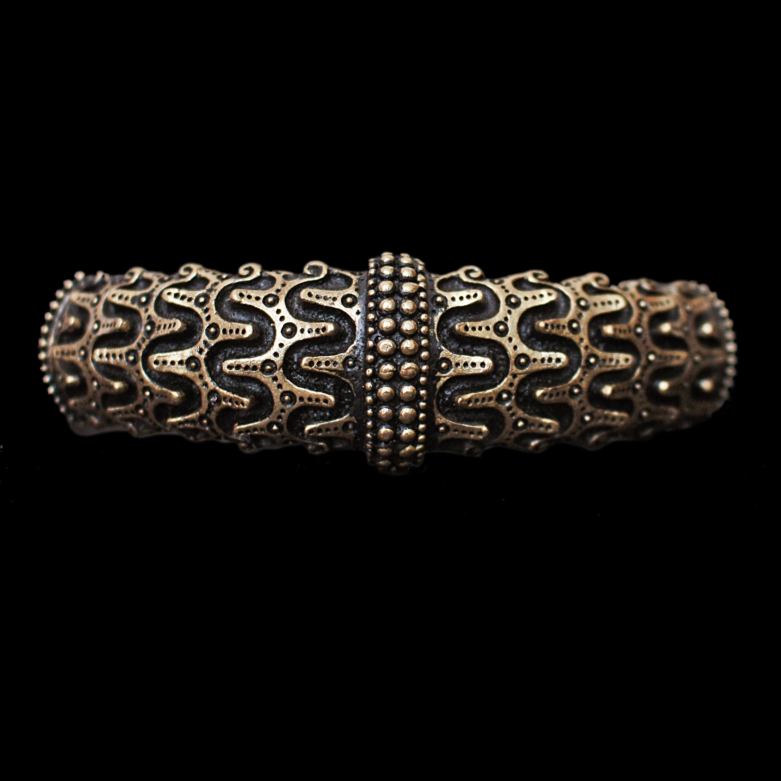 Bronze Replica Viking Arm Ring from Falster - Front View - Viking Jewelry