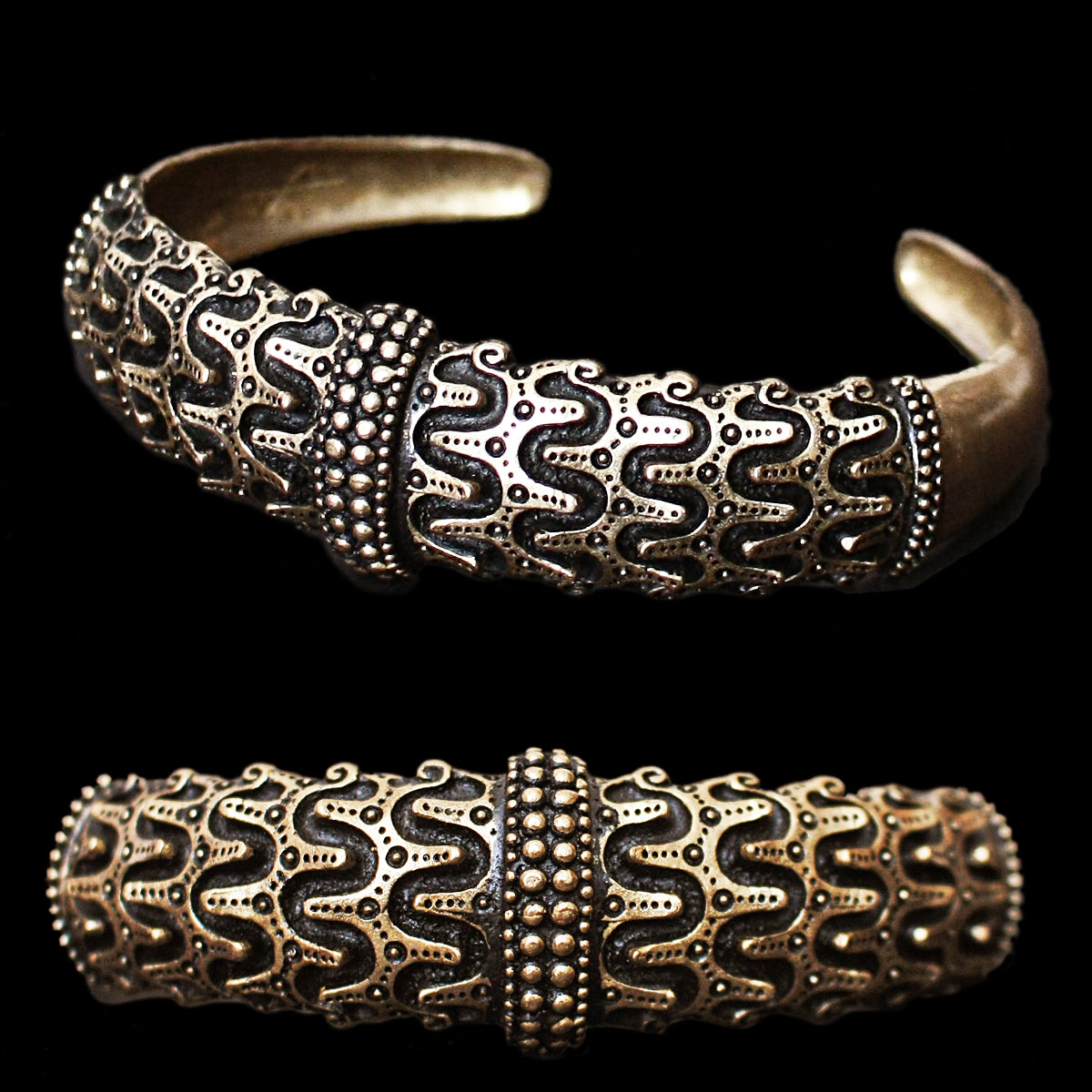 Bronze Replica Viking Arm Ring from Falster - Viking Jewelry