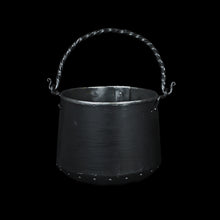 Load image into Gallery viewer, Hand-Forged Steel Cauldron with Cast Iron Handle