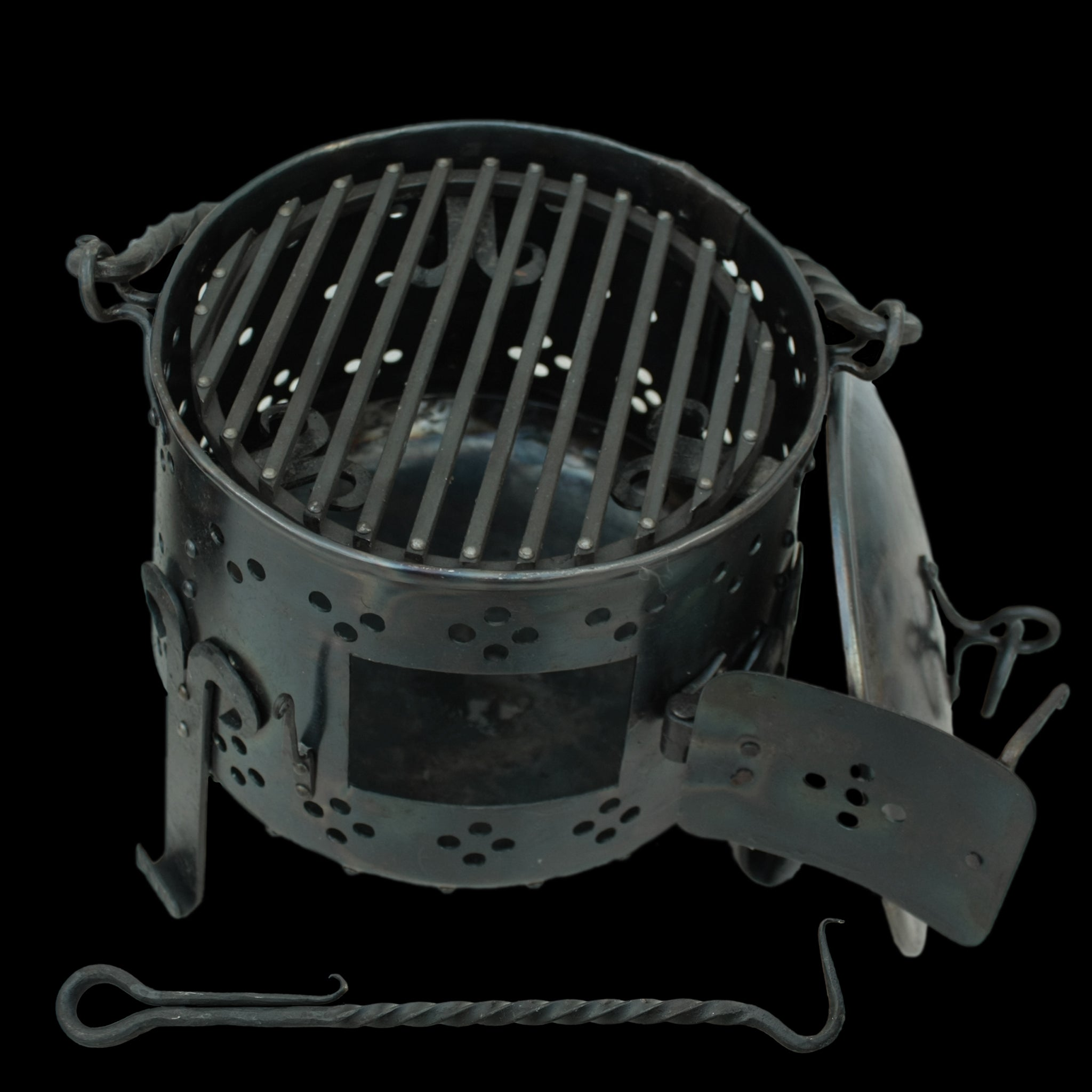 Hand-Forged Iron Fire Pot