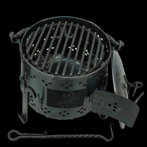 Hand-Forged Iron Fire Pot - Viking Camp Equipment